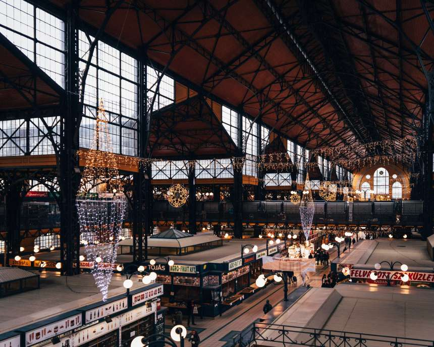 Det store matmarkedet Budapest attraksjon