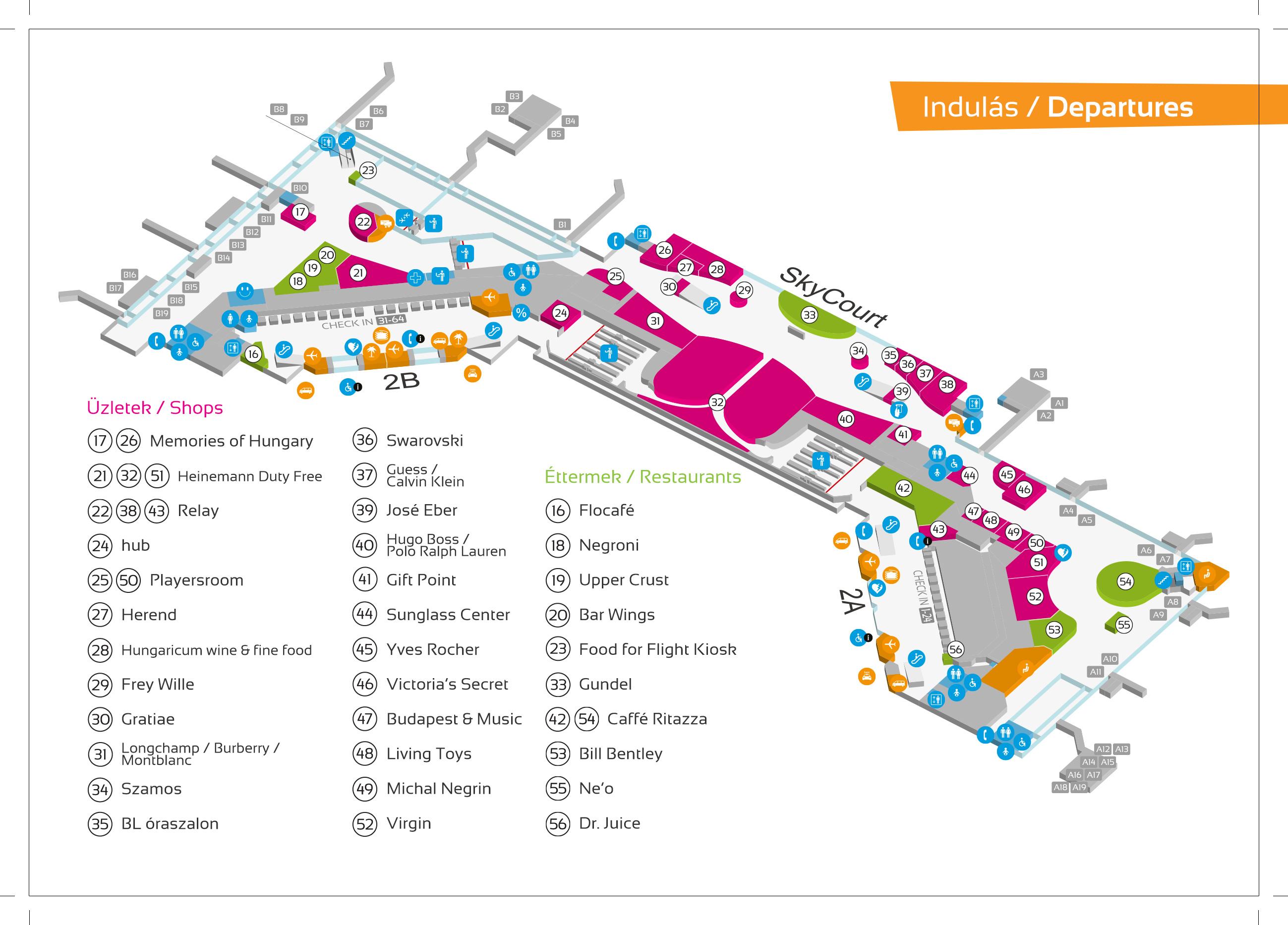 Budapest Flyplass Terminal 2 Oppdatert Med Kart Og Tips